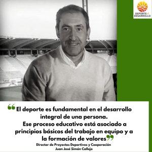 Juan Callejo, director de Deportes de Deporte y Desarrollo